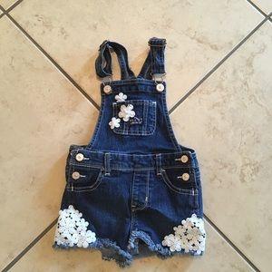 Toddler girl shirt overalls